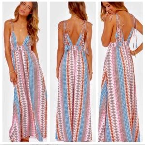 036f77127f0 LuLus Dresses - LuLus En Creme 💕 Maxi Print Summer Dress 💕